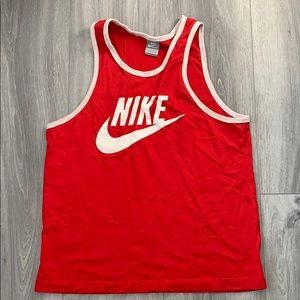 Nike runners tank top red